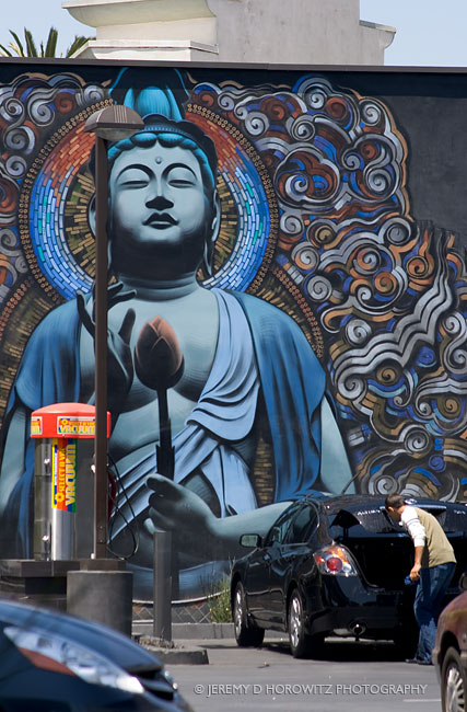 Buddha and murals on pinterest for Buddha mural art